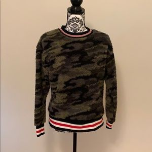 Camouflage & Stripe Sweater